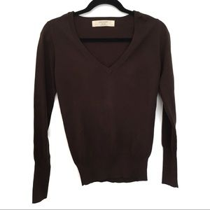 [ZARA] V Neck Long Sleeve Pullover Sweater Size M